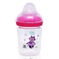 Buddsbuddy Premium Feeding Bottle with Wide Neck, 150ml, Pink