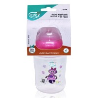 Buddsbuddy Premium Feeding Wide Neck Bottle with Handle, 250ml, Pink