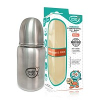 Buddsbuddy Premium Stainless Steel 3 in 1 Feeding Bottle, 300ml