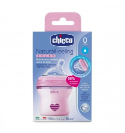 Chicco Natural Feeling Bottle 150 ml Pink - Regular Flow