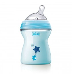 Chicco Natural Feeling Bottle 250 ml Blue - Medium Flow