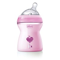 Chicco Natural Feeling Bottle 250 ml Pink - Medium Flow