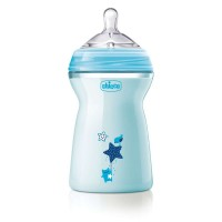 Chicco Natural Feeling Colored 330 ml Blue - Fast Flow