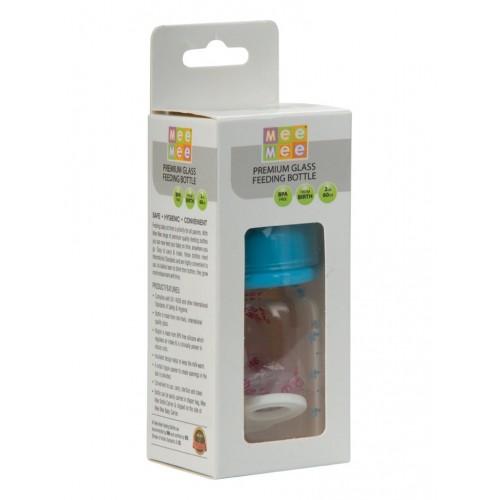 Mee Mee Premium Glass Feeding Bottle (60ml) (Blue)