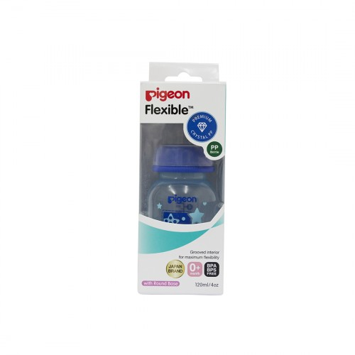 Pigeon Peristaltic Clear Nursing Bottle Rpp 120Ml (Blue) Boy