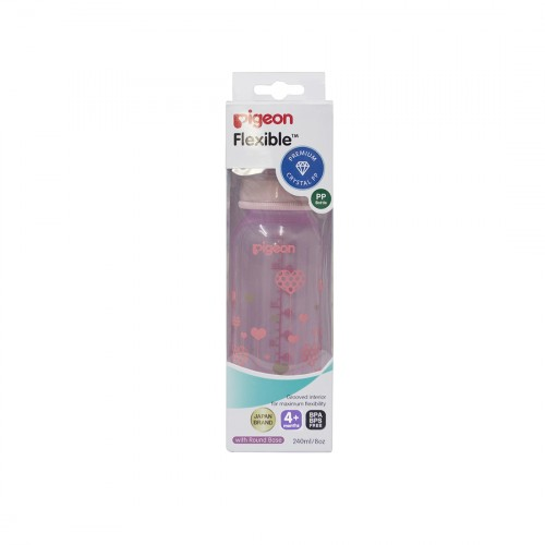 Pigeon Peristaltic Clear Nursing Bottle Rpp 240Ml (Pink) Abstract