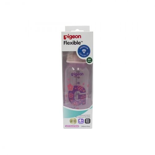 Pigeon Peristaltic Clear Nursing Bottle Rpp 240Ml (Pink) Girl
