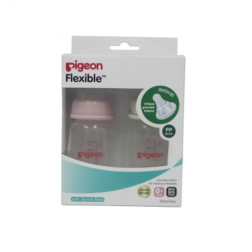 Pigeon Peristaltic Nursing Bottle Twin Pack Kpp 120Ml (Pink & White) Nipple S
