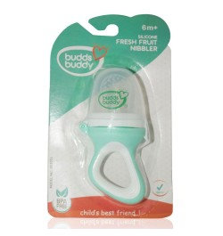 Buddsbuddy Silicone Fresh Fruit Nibbler For Babies, Green