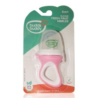 Buddsbuddy Silicone Fresh Fruit Nibbler For Babies, Pink