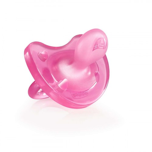 Chicco Physio Soft 12m+ Silicone Soother (Pink)