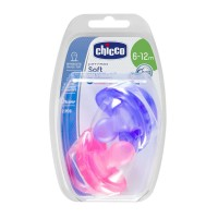 Chicco Physio Soft 6-12m Silicone Soother-2pc