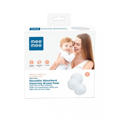 Mee Mee Reusable Absorbent Maternity Breast Pads (6 Pcs)