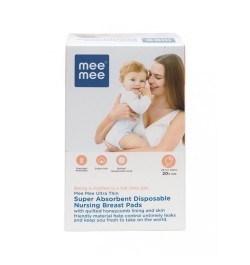 Buy Mee Mee Ultra Thin Disposable Nursing Breast Pads (24 Pieces) Online in India
