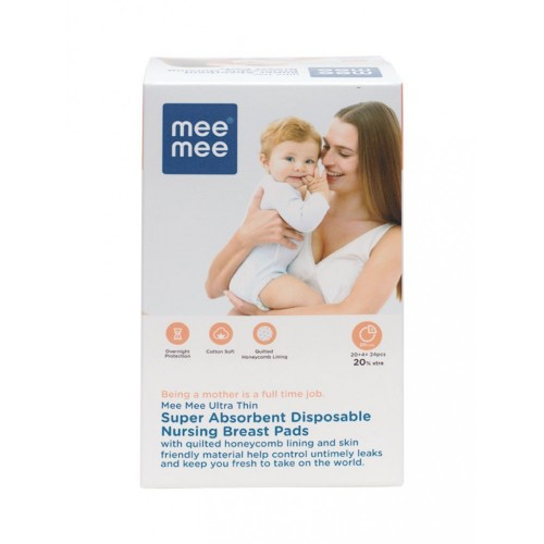 Mee Mee Ultra Thin Disposable Nursing Breast Pads (24 Pieces)