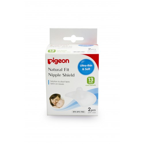 Pigeon Natural Fit Silicone Nipple Shield L (13Mm) 2Pc