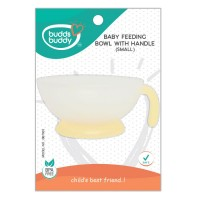 Buddsbuddy Baby Feeding Bowl with Handle, Small, Yellow
