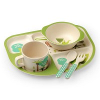 Luvlap Bamboo Cutlery Set – Green