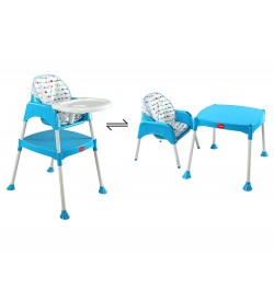 Buy Luvlap 3 In 1 Baby High Chair – Blue Online in India