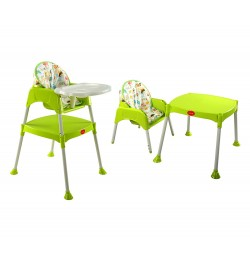 Buy Luvlap 3 In 1 Baby High Chair – Green Online in India
