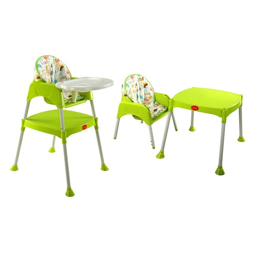 Luvlap 3 In 1 Baby High Chair – Green