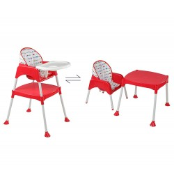 Buy Luvlap 3 In 1 Baby High Chair – Red Online in India