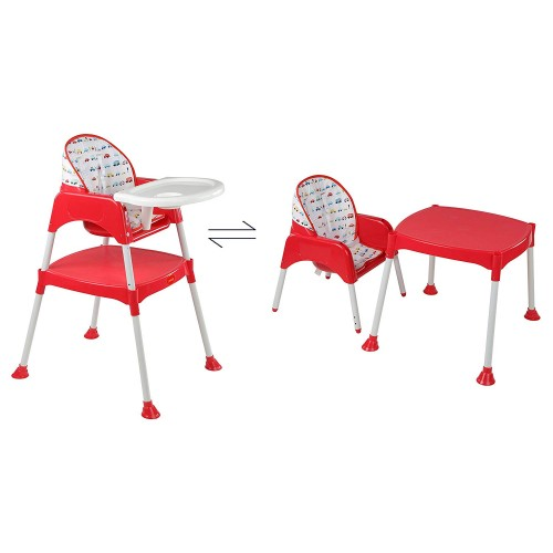 Luvlap 3 In 1 Baby High Chair – Red
