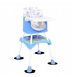 Buy R for Rabbit Cherry Berry Grand - The Convertible 4 in 1 Feeding High Chair for Baby/Kids (Blue) Online in India