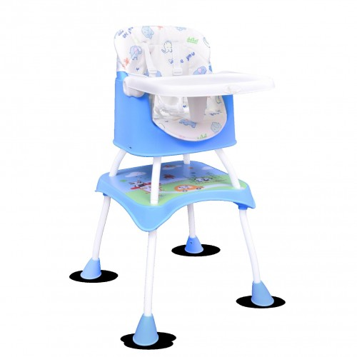 R for Rabbit Cherry Berry Grand - The Convertible 4 in 1 Feeding High Chair for Baby/Kids (Blue)