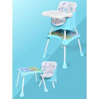 R for Rabbit Cherry Berry Grand - The Convertible 4 in 1 Feeding High Chair for Baby/Kids (Green)