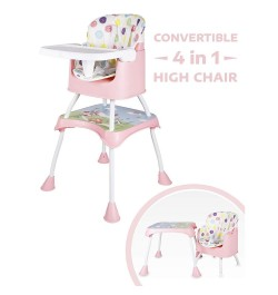 Buy R for Rabbit Cherry Berry Grand - The Convertible 4 in 1 Feeding High Chair for Baby/Kids (Pink) Online in India