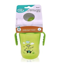Buddsbuddy	Premium 2 Handle Sippy Cup with Hard Spout (Big), 250ml, Green