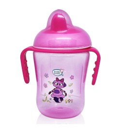 BuddsbuddyPremium 2 Handle Sippy Cup with Hard Spout (Big), 250ml, Pink