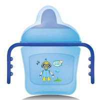 Buddsbuddy	Premium 2 Handle Sippy Cup with Hard Spout (Small), 150ml, Blue