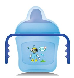 BuddsbuddyPremium 2 Handle Sippy Cup with Hard Spout (Small), 150ml, Blue