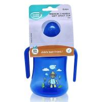 BuddsbuddyPremium 2 Handle Soft Spout Sippy Cup, 270ml, Blue