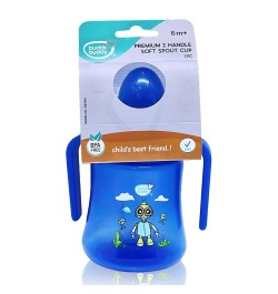 Buy BuddsbuddyPremium 2 Handle Soft Spout Sippy Cup, 270ml, Blue Online in India
