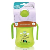 Buddsbuddy	Premium 2 Handle Soft Spout Sippy Cup, 270ml, Green