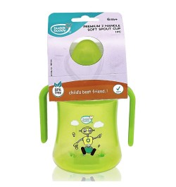 Buy Buddsbuddy	Premium 2 Handle Soft Spout Sippy Cup, 270ml, Green Online in India