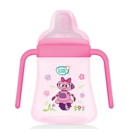 Buy Buddsbuddy	Premium 2 Handle Soft Spout Sippy Cup, 270ml, Pink Online in India