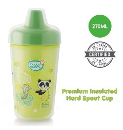 Buddsbuddy	Premium Insulated Hard Spout Cup 1Pc, 270 ml, Green