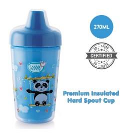 BuddsbuddyPremium Insulated Hard Spout Cup 1Pc, 270 ml, Blue