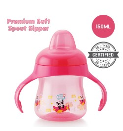 Buy Buddsbuddy	Premium Soft Spout Sipper 1Pc, 150ml, Pink Online in India