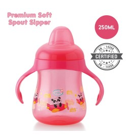 Buy Buddsbuddy	Premium Soft Spout Sipper 1Pc, 250ml, Pink Online in India