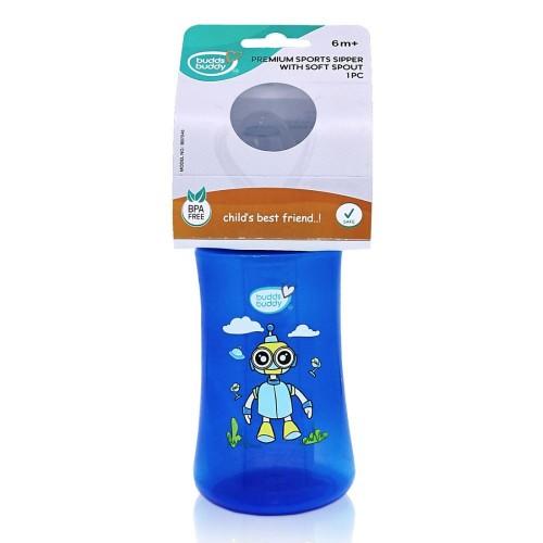 BuddsbuddyPremium Sports sipper with Soft Spout, 360ml, Blue