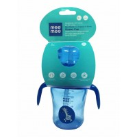 Mee Mee 2 In 1 Spout & Straw Sipper Cup, Blue (210ml)