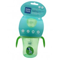 Mee Mee 2 In 1 Spout & Straw Sipper Cup, Green (210ml)