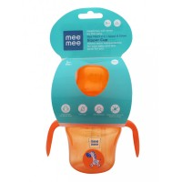 Mee Mee 2 In 1 Spout & Straw Sipper Cup, Orange (150ml)