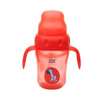 Mee Mee 2 In 1 Spout & Straw Sipper Cup, Red (210ml)