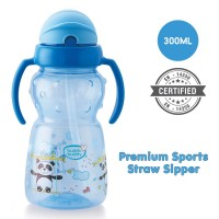 Buddsbuddy	Premium 2 Handle Sports Straw Sipper 1Pc, 300ml, Blue